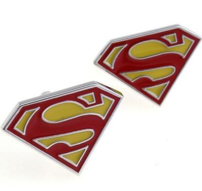 Manžetové knoflíčky Superman červené - 1