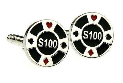 Manžetové knoflíčky pokerový žeton - 1