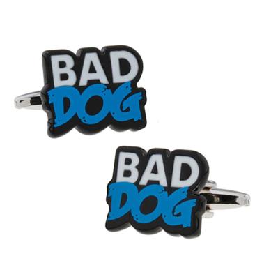 """Manžetové knoflíčky zlý pes """"Bad dog"""""""