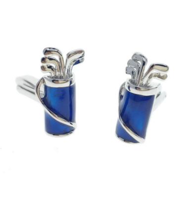 Manžetové knoflíčky golfový bag modrý
