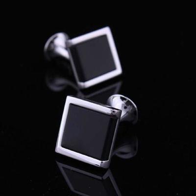 Manžetové knoflíčky s černým vsazeným čtvercem