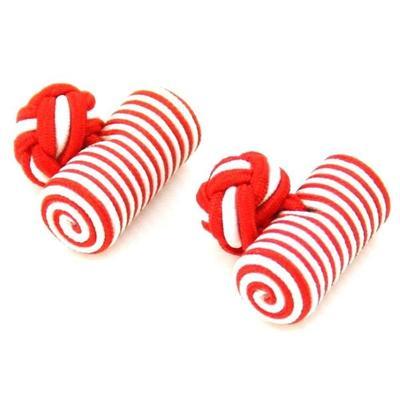 Manžetové knoflíčky elastické červeno bíle