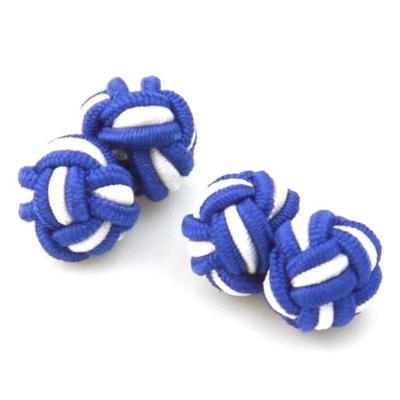 Manžetové knoflíčky elastické modrobílé uzlíky