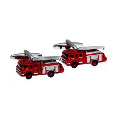 Manžetové knoflíčky hasičský vůz červený