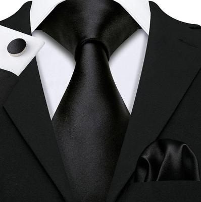 Manžetové knoflíčky s kravatou černá - Amfitríta