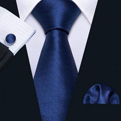Manžetové knoflíčky s kravatou modrá - Aglaia