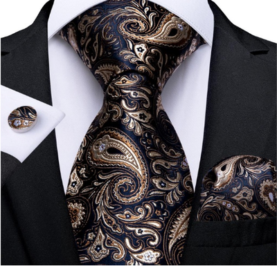 Manžetové knoflíčky s kravatou - Hypnos