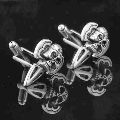 Manžetové knoflíčky lebka šipka