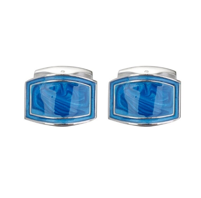 Manžetové knoflíčky Modrá laguna - 1