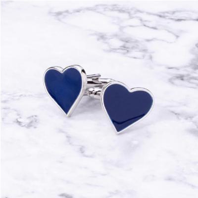 Manžetové knoflíčky Modré srdce