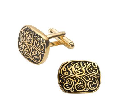 Manžetové knoflíčky římský vzor zlatý - 1