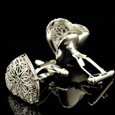 Manžetové knoflíčky srdce amulet
