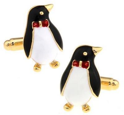 Manžetové knoflíčky tučňák s motýlkem