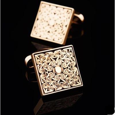 Manžetové knoflíčky luxusní zlatý ornament