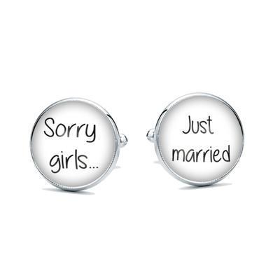 Manžetové knoflíčky Sorry girls - 1