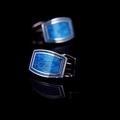 Manžetové knoflíčky Modrá laguna - 2