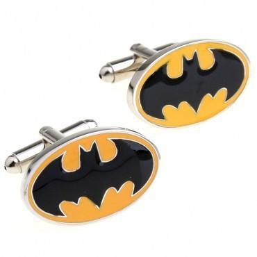 Manžetové knoflíčky Batman žluté - 2