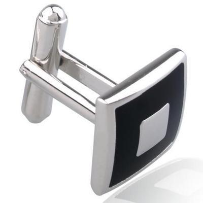 Manžetové knoflíčky černý čtverec - 2