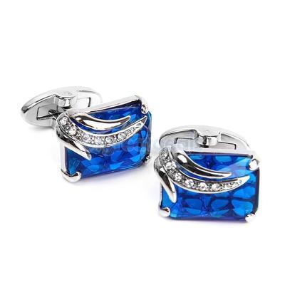 Manžetové knoflíčky modrý klenot - 2