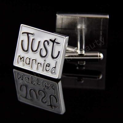 Manžetové knoflíčky novomanželé - 2