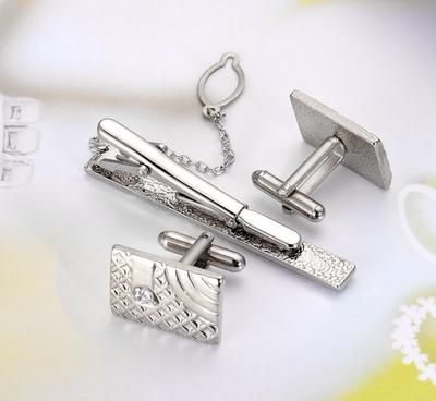 Manžetové knoflíčky se sponou na kravatu luxus - 2