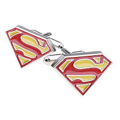 Manžetové knoflíčky Superman červené - 2