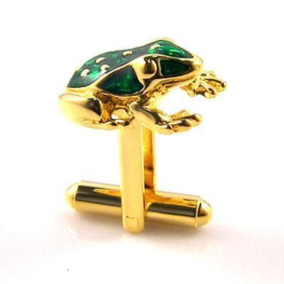 Manžetové knoflíčky žabka zlatá - 2