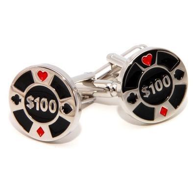 Manžetové knoflíčky pokerový žeton - 2