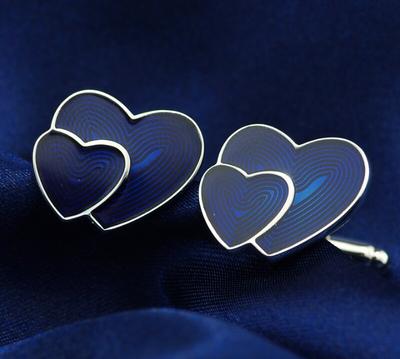 Manžetové knoflíčky srdce - 2