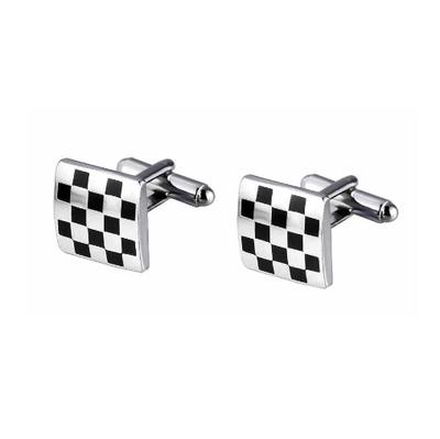 Manžetové knoflíčky šachovnice - 2