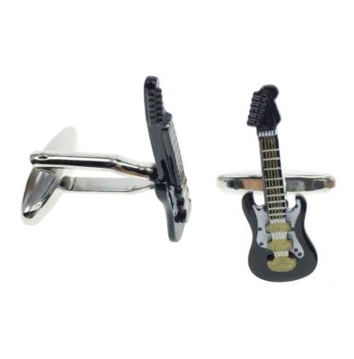 Manžetové knoflíčky elektrická kytara černá - 2