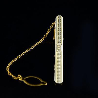 Spona na kravatu zlatá zrnka - 2