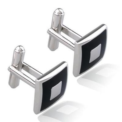 Manžetové knoflíčky černý čtverec - 3
