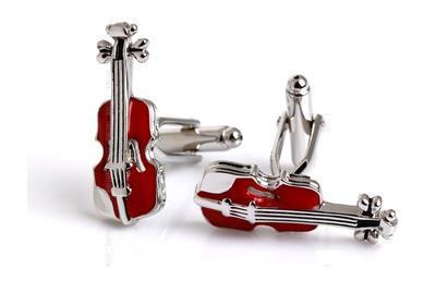 Manžetové knoflíčky housle - 3