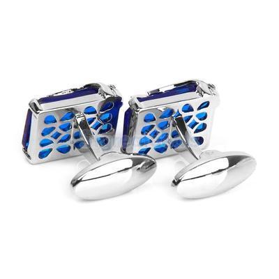 Manžetové knoflíčky modrý klenot - 3