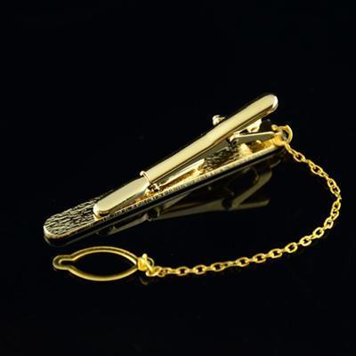 Spona na kravatu zlatá zrnka - 3