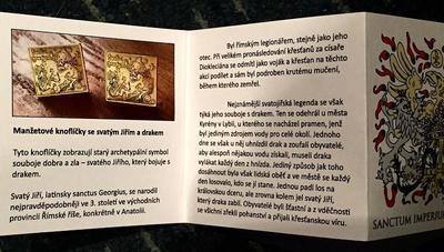 Manžetové knoflíčky sv. Jiří a drak - 4