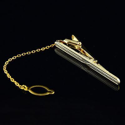 Spona na kravatu zlatá zrnka - 4